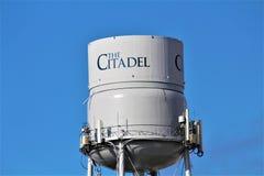 Charleston, South Carolina / United States - November 10 2018: The Citadel is a historic landmark. Hosting a homecoming weekend during November stock images