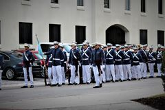 Charleston, South Carolina / United States - November 10 2018: The Citadel is a historic landmark. Hosting a homecoming weekend during November royalty free stock image