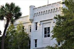 Charleston, South Carolina / United States - November 10 2018: The Citadel is a historic landmark. University hosting a homecoming weekend during November stock image