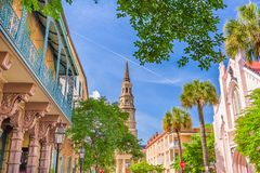 Charleston South Carolina, USA arkivfoto