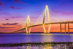 Charleston, South Carolina, USA Bridge. Charleston, South Carolina, USA at Arthur Ravenel Jr. Bridge Stock Image