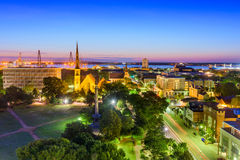 Charleston, South Carolina. USA downtown skyline royalty free stock images