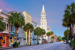Charleston south Carolina. Charleston, South Carolina, USA in the French Quarter royalty free stock photo