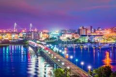 Charleston, South Carolina, USA Skyline royalty free stock images