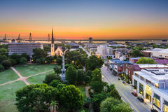Charleston, South Carolina. USA skyline over Marion Square Royalty Free Stock Photos