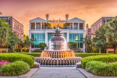 Charleston South Carolina, USA springbrunn royaltyfri bild