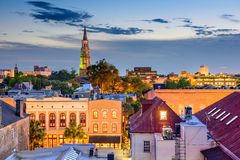 Charleston South Carolina. Charleston, South Carolina, USA town skyline Royalty Free Stock Photography