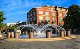 Charleston South Carolina Water Fountain Imagem de Stock Royalty Free