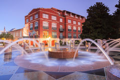 Charleston South Carolina Waterfront Fountain Arkivbilder