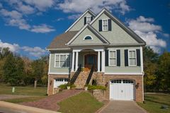 Charleston style home. Newly constructed, large upscale home Stock Photos