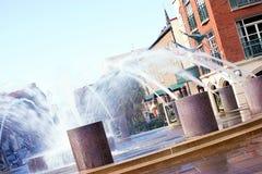 Charleston Waterfront Fountain Stock Photo