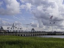 Charleston Waterfront Park pir arkivbilder