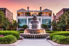 Charleston Waterfront Park. Charleston, South Carolina, USA at the Waterfront Park Pineapple Fountain Royalty Free Stock Photo