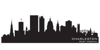 Charleston West Virginia-het vectorsilhouet van de stadshorizon Stock Illustratie
