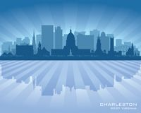 Charleston West Virginia-het vectorsilhouet van de stadshorizon Royalty-vrije Illustratie