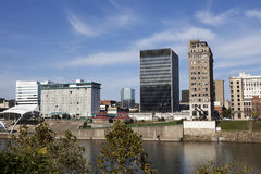 Charleston West Virginia horisont arkivbilder