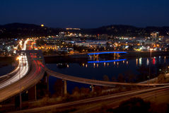 Charleston - West Virginia  (night) Stock Image