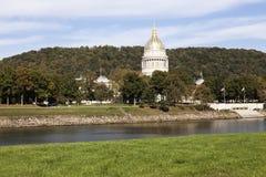 Charleston West Virginia - tillståndsCapitolbyggnad Arkivfoton