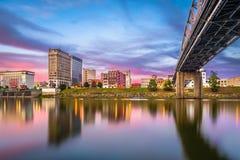 Charleston West Virginia, USA horisont arkivfoto