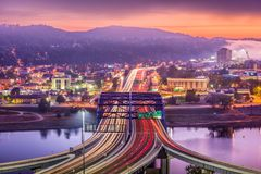 Charleston West Virginia, USA horisont royaltyfria bilder