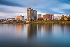 Charleston West Virginia, USA horisont arkivfoton