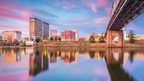 Charleston, West Virginia, USA. Skyline on the Kanawha River stock photography