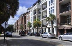 CharlestonSC, Augusti 7th: Gatasikt från charleston i South Carolina Royaltyfri Fotografi