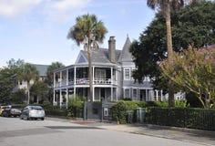 CharlestonSC, Augusti 7th: Historiskt hus från charleston i South Carolina Fotografering för Bildbyråer