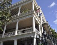CharlestonSC, Augusti 7th: Historiskt kolonialt hus från charleston i South Carolina Arkivbild