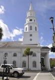 CharlestonSC, Augusti 7th: Kyrklig St Michaels från charleston i South Carolina Fotografering för Bildbyråer