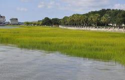 CharlestonSC, Augusti 7th: Segla hamnen från charleston i South Carolina Royaltyfria Foton