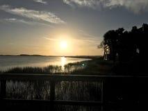 Charlestonsolnedgång! arkivbild