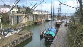 Charlestown. Cornwall the film set for podark and  british Tv drama taboo Royalty Free Stock Photo