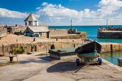 Charlestown hamn Cornwall Arkivfoto