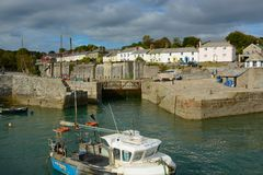 Charlestown Harbour in Cornwall, England Stock Image