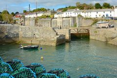 Charlestown Harbour in Cornwall, England Royalty Free Stock Photo