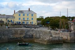Charlestown Harbour in Cornwall, England Royalty Free Stock Photos