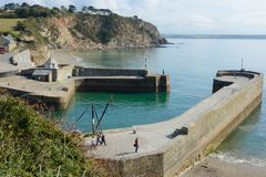 Charlestown Harbour, Cornwall, England Royalty Free Stock Photos