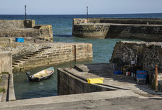 Charlestown harbour in Cornwall, England, UK Royalty Free Stock Images