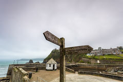 Charlestown Harbour in Cornwall England UK Royalty Free Stock Photos