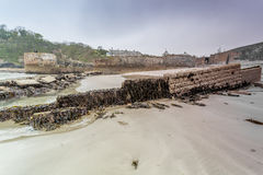Charlestown Harbour in Cornwall England UK Royalty Free Stock Photo