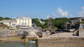 Charlestown harbour near St. Austell in Cornwall Royalty Free Stock Photos
