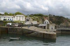 Charlestown (kornisch: Porth Meur, große Bucht bedeutend) ist ein Dorf und ein Hafen auf der Südküste von Cornwall, England, Stockfotos