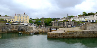 Charlestown. Picturesque Charlestown Fishing Village near St Austell Cornwall Royalty Free Stock Image