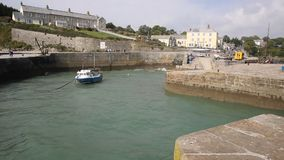 Charlestown village and harbour Cornwall England UK near St Austell stock video footage
