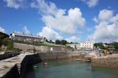Charlestownhaven, Cornwall Stock Foto