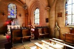 Charleval, Francia - 7 settembre 2016: Chiesa di St Denis immagine stock libera da diritti