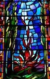 Charleval, Francia - 7 settembre 2016: Chiesa di St Denis fotografia stock libera da diritti