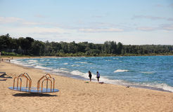 Charlevoix Beach in Michigan Royalty Free Stock Image