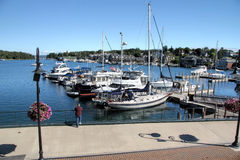 Charlevoix City Marina Royalty Free Stock Photography